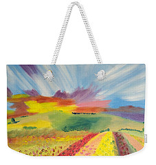 Rainbow  Flowers Weekender Tote Bag