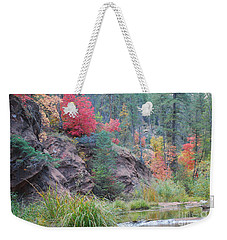 Rainbow Of The Season With River Weekender Tote Bag by Heather Kirk