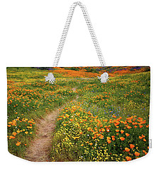 Weekender Tote Bag featuring the photograph Rainbow Of Wildflowers Bloom Near Diamond Lake In California by Jetson Nguyen