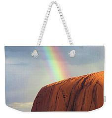 Rainbow On Uluru 2 Weekender Tote Bag