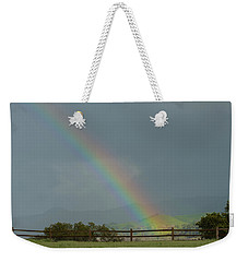 Rainbow On Valhalla Dr. Weekender Tote Bag