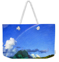 Rainbow Over Bora Bora Weekender Tote Bag