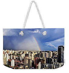 Rainbow Over City Skyline - Sao Paulo Weekender Tote Bag