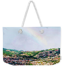 Rainbow Over Funchal Weekender Tote Bag