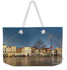 Rainbow Over Market Place Gouda Weekender Tote Bag