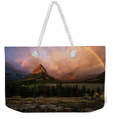 Rainbow Over Mt Gould Weekender Tote Bag