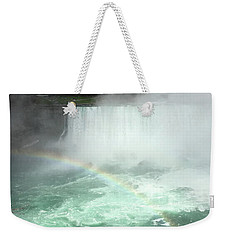 Rainbow Over Niagara Falls Weekender Tote Bag
