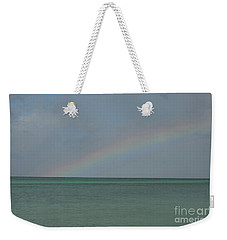 Rainbow Over Palm Beach Weekender Tote Bag by DejaVu Designs