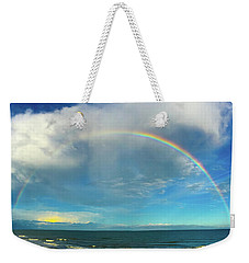 Rainbow Over Topsail Island Weekender Tote Bag