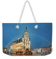 Rainbow Over Town Hall Gouda Weekender Tote Bag