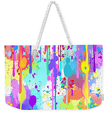 Weekender Tote Bag featuring the painting Rainbow Painted Frog  by Nick Gustafson