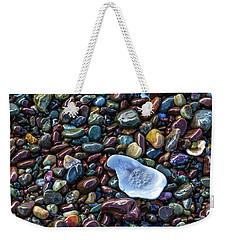 Rainbow Pebbles Weekender Tote Bag