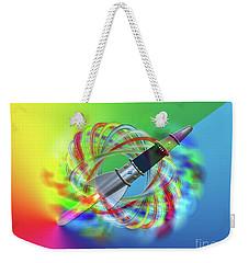 Rainbow Rocket Orbits Weekender Tote Bag