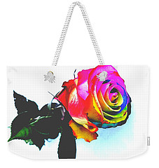 Rainbow Rose 2 Weekender Tote Bag