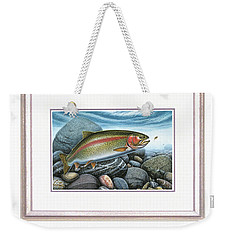 Weekender Tote Bag featuring the painting Rainbow Run by Jon Q Wright