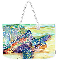 Rainbow Sea Turtle 2 Weekender Tote Bag