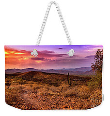 Rainbow Skies Weekender Tote Bag