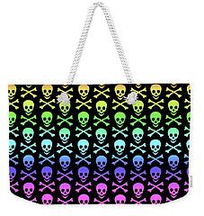 Rainbow Skull And Crossbones Weekender Tote Bag