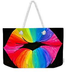Rainbow Smooch Weekender Tote Bag