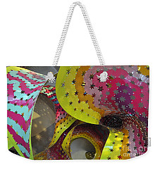 Rainbow Spiral Starscape Weekender Tote Bag