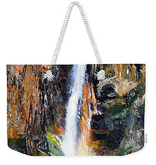 Weekender Tote Bag featuring the painting Rainbow Splash by LaVonne Hand