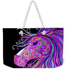 Rainbow Spotted Horse Head 2 Weekender Tote Bag
