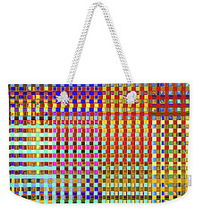 Rainbow Squared Tapestry Weekender Tote Bag by Ann Johndro-Collins