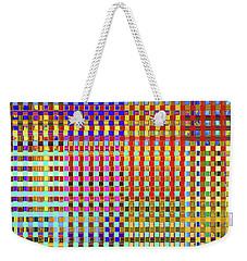Rainbow Squared Tapestry Weekender Tote Bag