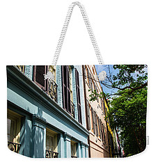 Weekender Tote Bag featuring the photograph Rainbow Street by Karol Livote