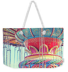 Weekender Tote Bag featuring the photograph Rainbow Swings by Melanie Alexandra Price