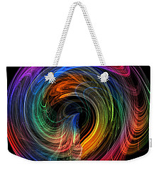 Weekender Tote Bag featuring the photograph Rainbow Through Curved Air by Mark Blauhoefer