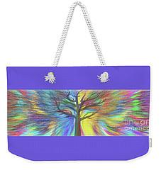 Weekender Tote Bag featuring the digital art Rainbow Tree By Kaye Menner by Kaye Menner
