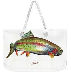 Rainbow Trout Weekender Tote Bag by Juan Bosco