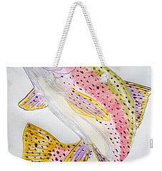 Rainbow Trout Presented In Colored Pencil Weekender Tote Bag by Scott D Van Osdol