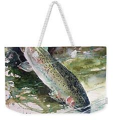 Rainbow Trout Weekender Tote Bag