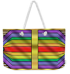 Weekender Tote Bag featuring the digital art Rainbow Wall Hanging Horizontal by Chuck Staley