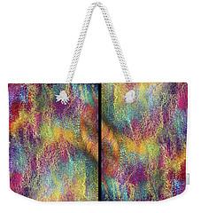 Rainbow Waterfall Diptych Weekender Tote Bag