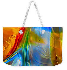 Weekender Tote Bag featuring the photograph Rainbow Waterfalls by Omaste Witkowski