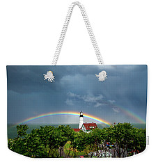 Rainbow X 2 At Portland Headlight Weekender Tote Bag