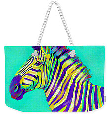 Rainbow Zebra 2013 Weekender Tote Bag by Jane Schnetlage