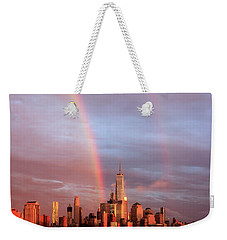 Rainbows In Nyc Weekender Tote Bag by Anthony Fields