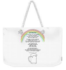Weekender Tote Bag featuring the drawing Rainbows by John Haldane