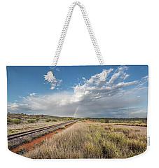 Rainbows Over Ghan Tracks Weekender Tote Bag