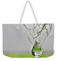 Raindrop On Web Weekender Tote Bag by Lorella Schoales
