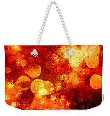 Weekender Tote Bag featuring the digital art Raindrops And Bokeh Abstract by Fine Art By Andrew David