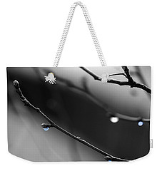 Weekender Tote Bag featuring the photograph Raindrops by Angela Rath