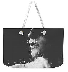 Raindrops - Blindfolded Beautiful Woman Behind A Window Weekender Tote Bag