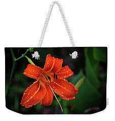 Raindrops On A Tiger Lily Weekender Tote Bag