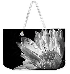Raindrops On Daisy Black And White Weekender Tote Bag