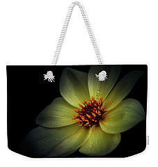 Weekender Tote Bag featuring the photograph Raindrops On Petals by Ryan Photography
